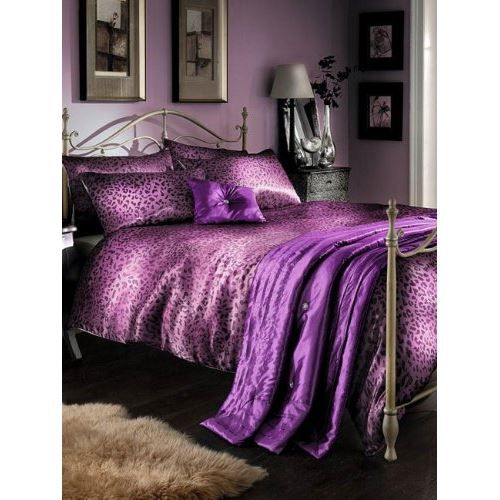 parure de lit complete 5 pi ces satin lilas zeb achat vente parure de drap cdiscount. Black Bedroom Furniture Sets. Home Design Ideas