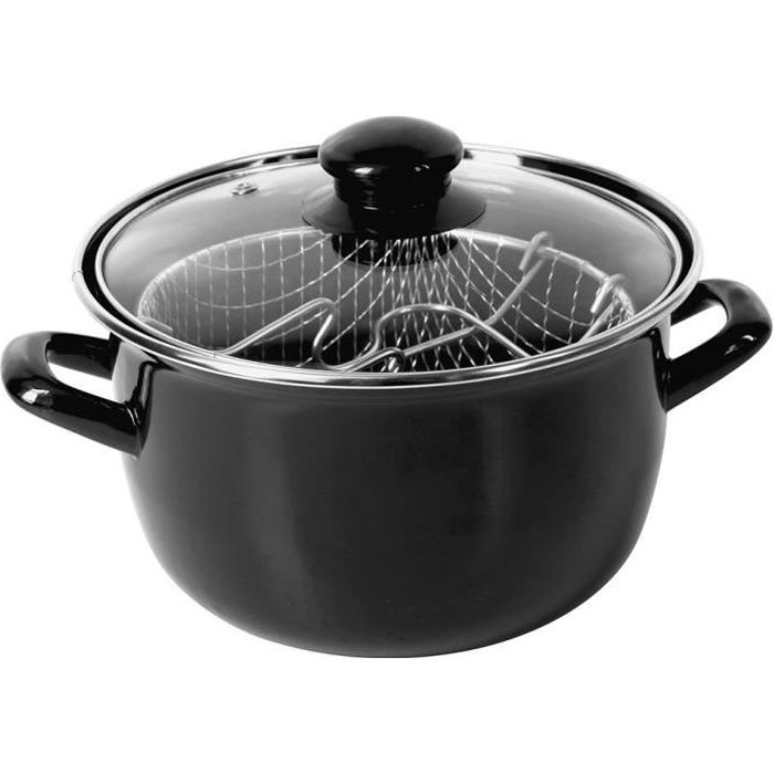 FRITEUSE Crealys Friteuse - 511306 - Ø20Cm Emaille Inductio
