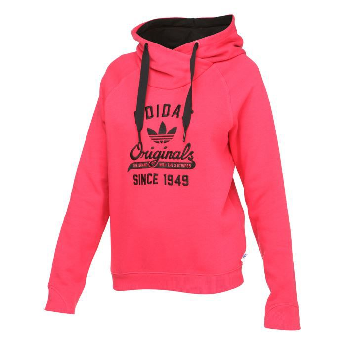 adidas sweat capuche femme rose achat vente sweatshirt cdiscount. Black Bedroom Furniture Sets. Home Design Ideas