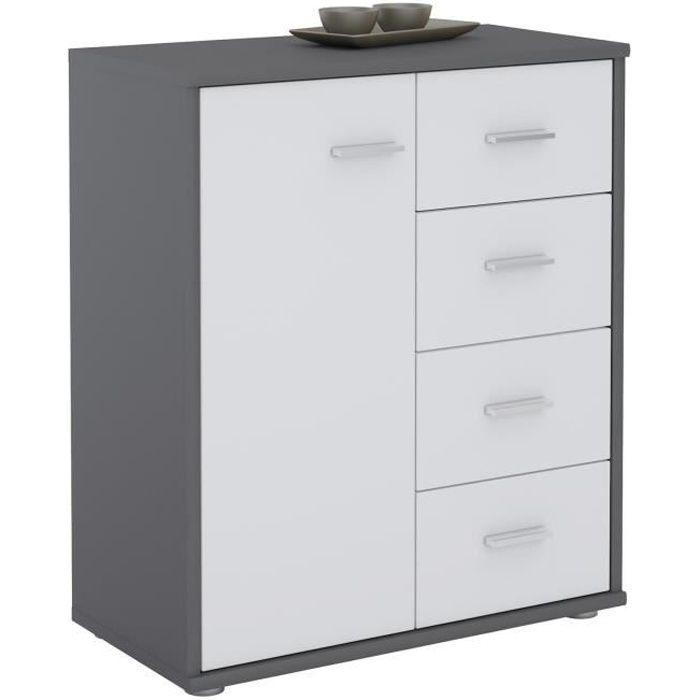 COMMODE DE CHAMBRE Buffet OSCAR, commode meuble de rangement avec 4 t