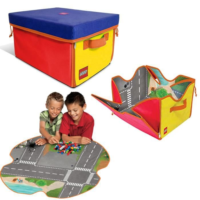 tapis de jeu boite de rangement lego zipbin 4 achat. Black Bedroom Furniture Sets. Home Design Ideas