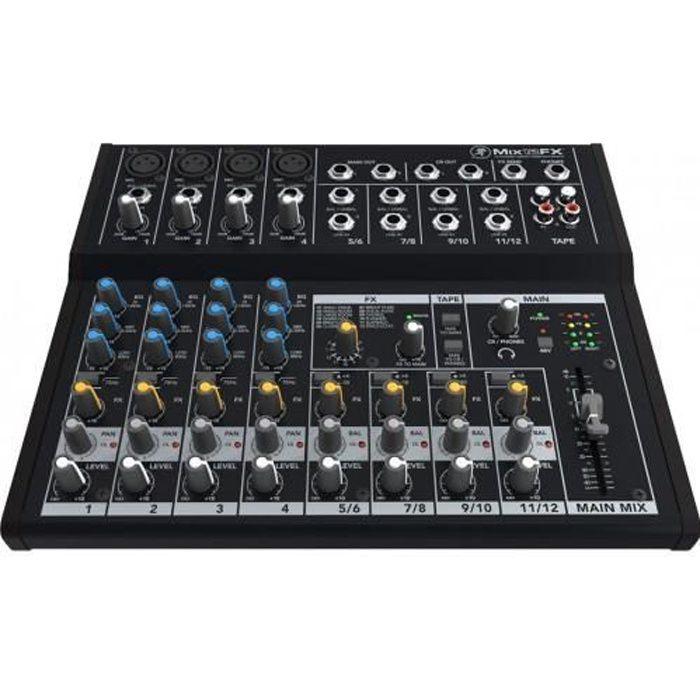 TABLE DE MIXAGE Mackie MIX12FX - Table de mixage 12 voies avec ...
