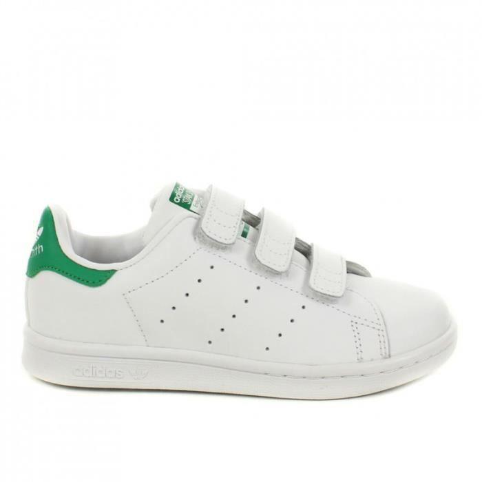 Basket Adidas Stan Smith Enfant ... Blanc Blanc - Cdiscount Chaussures
