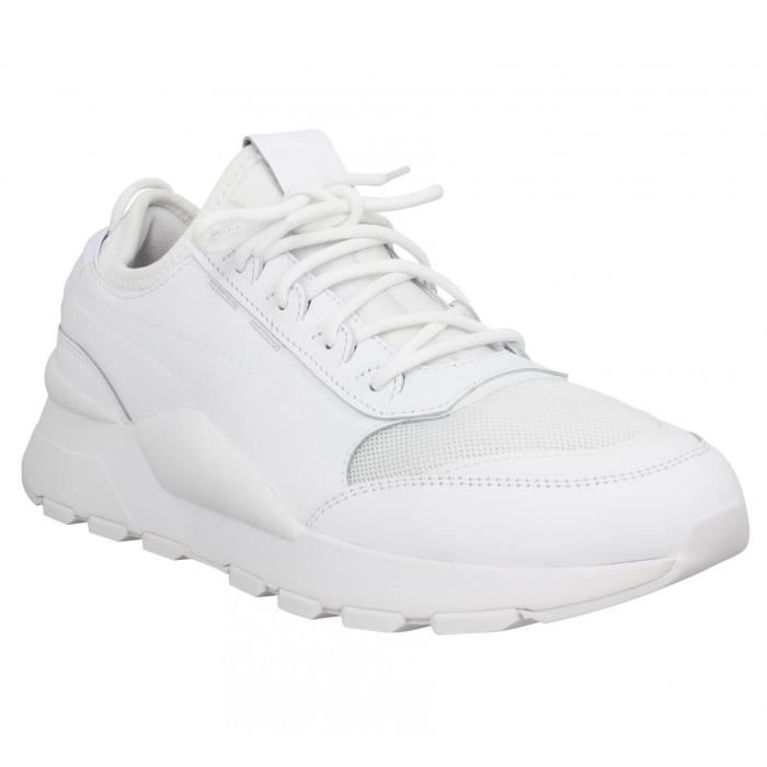 save off 12ea5 db81f BASKET Baskets PUMA RS-0 Sound toile Homme-45-Blanc