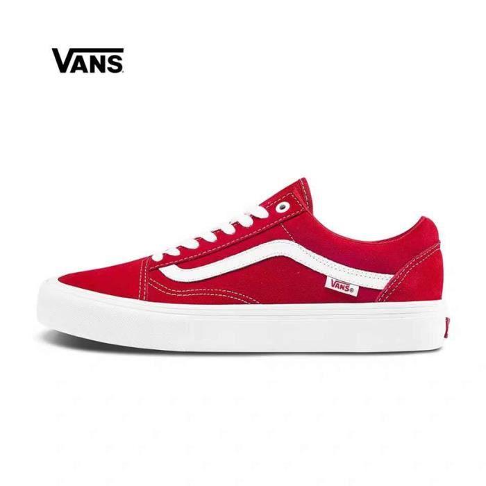 vans old skool blanche et rouge