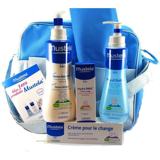 mustela vanity bleu mes premiers produits sac achat vente coffret soin b b mustela. Black Bedroom Furniture Sets. Home Design Ideas