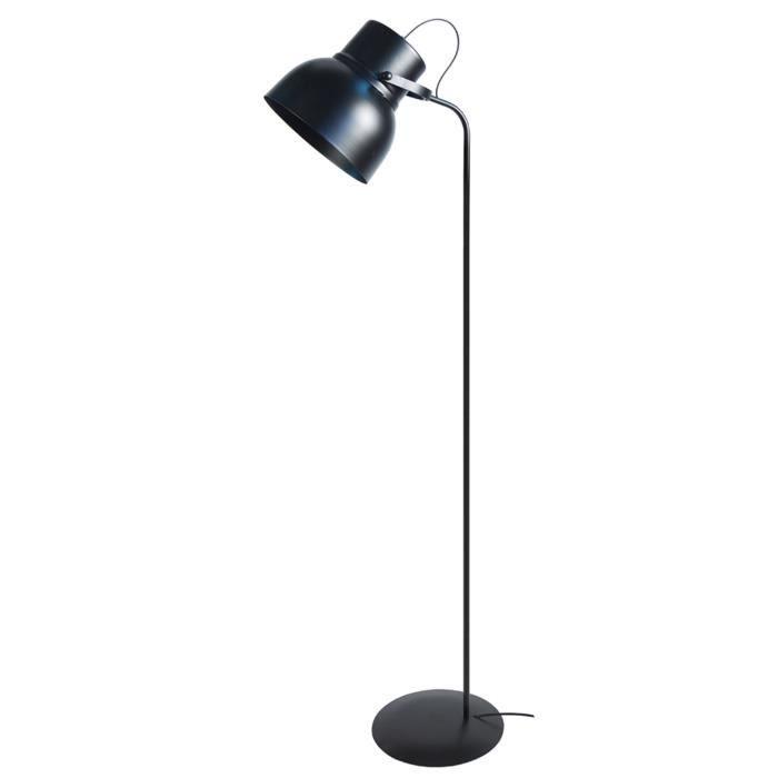 LAMPADAIRE Lampadaire Cloche E27 23 W 150 cm Noir satiné