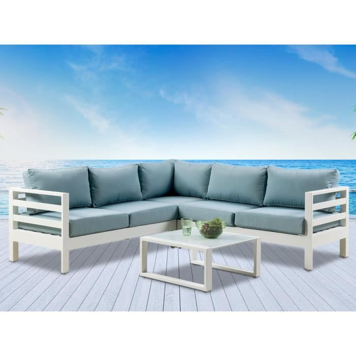 salon de jardin aluminium blanc achat vente pas cher. Black Bedroom Furniture Sets. Home Design Ideas