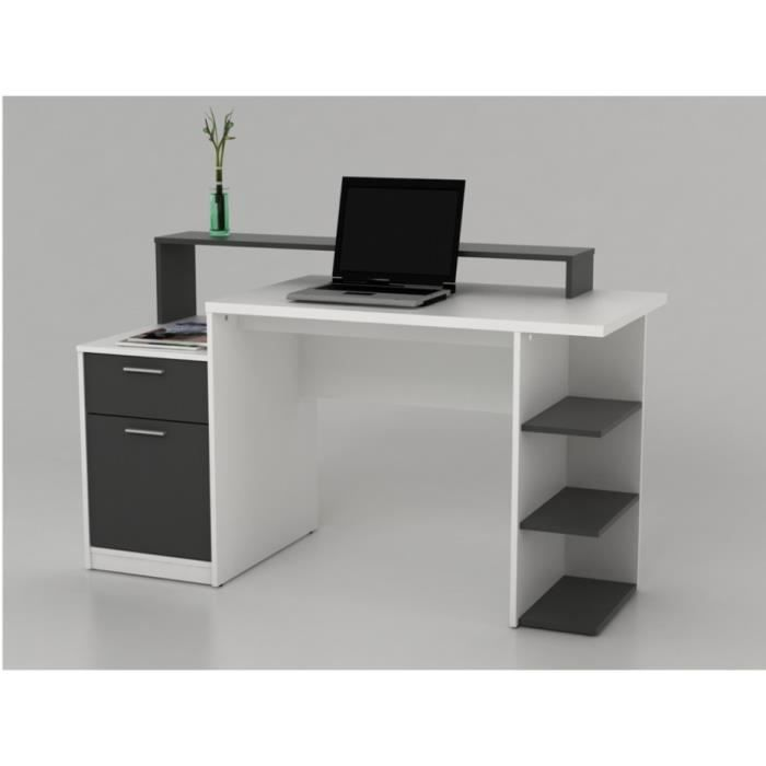 bureau blanc avec rangement bureau design blanc avec. Black Bedroom Furniture Sets. Home Design Ideas