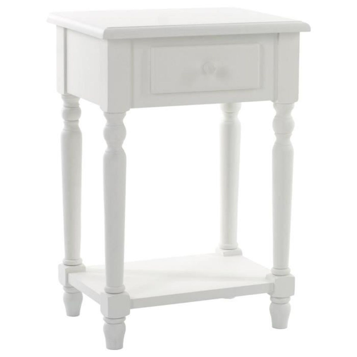 table de chevet blanche mila 1 tiroir autres blanc achat. Black Bedroom Furniture Sets. Home Design Ideas