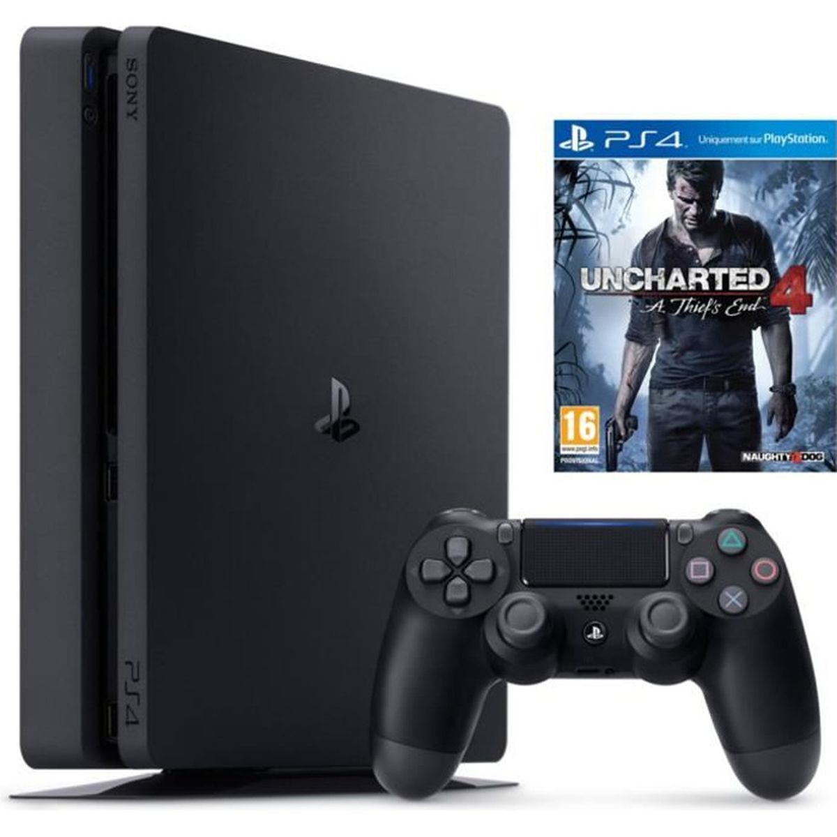 console sony ps4 1to slim uncharted 4 a achat vente console ps4 console sony ps4 1to slim u. Black Bedroom Furniture Sets. Home Design Ideas