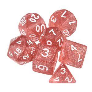 Dice 4 Friends RPG 7 Cube Set Poly DND jeu de rôle violet or des meilleures ventes