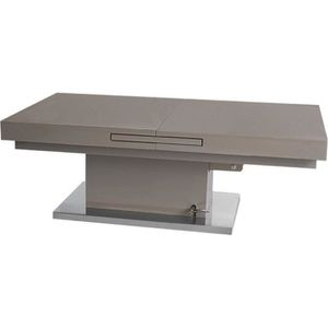 TABLE BASSE Table basse relevable extensible SETUP taupe