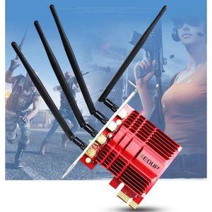 CARTE RÉSEAU  EDUP Adaptateur PCI Express WiFi bi-bande 1200Mbps