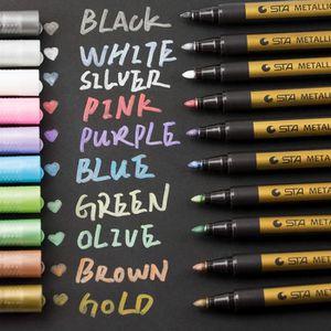 STYLO - FEUTRE PEAU Marqueurs métalliques pens 10pcs Feutres coloriage