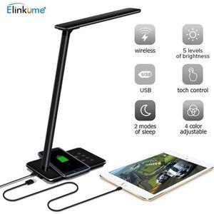 LAMPE A POSER Lampe de Bureau LED - Tactile avec Chargeur sans f