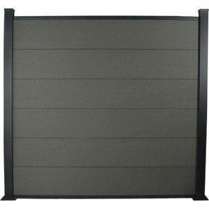 CLÔTURE - GRILLAGE Kit Clôture 1.6m composite et aluminium - Kit de f