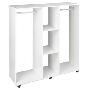 ARMOIRE DE CHAMBRE Armoire penderie meuble de rangement mobile 6 roul