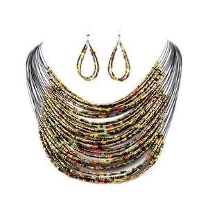 PARURE Parure Bijou perle de rocaille Verre Femme Multico