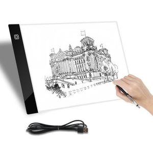 TABLE A DESSIN Tablette Lumineuse A4 LED Luminosité Réglable Pad