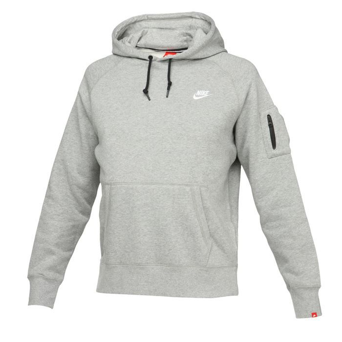 nike sweat capuche homme gris achat vente sweatshirt soldes cdiscount. Black Bedroom Furniture Sets. Home Design Ideas