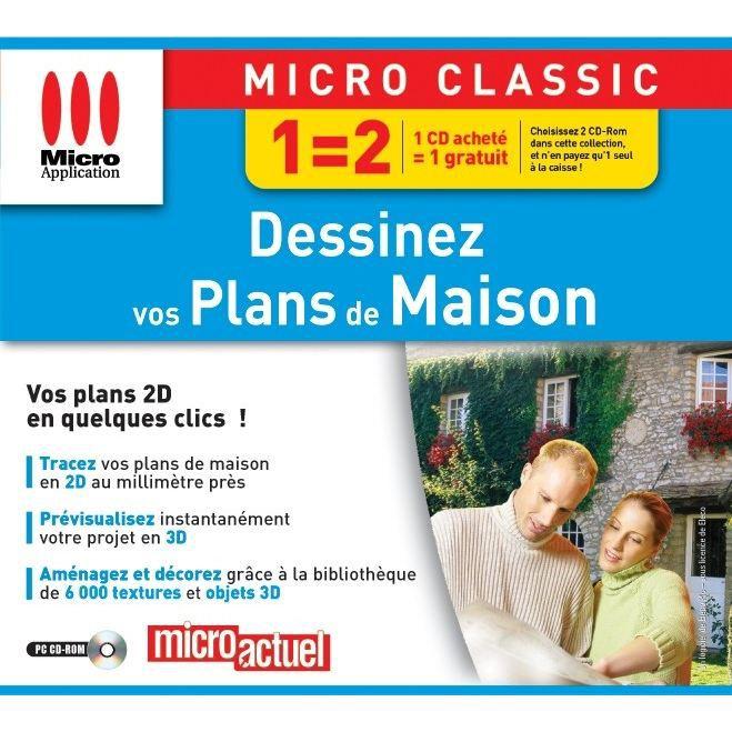 DESSINEZ VOS PLANS DE MAISON / LOGICIEL PC CD-ROM