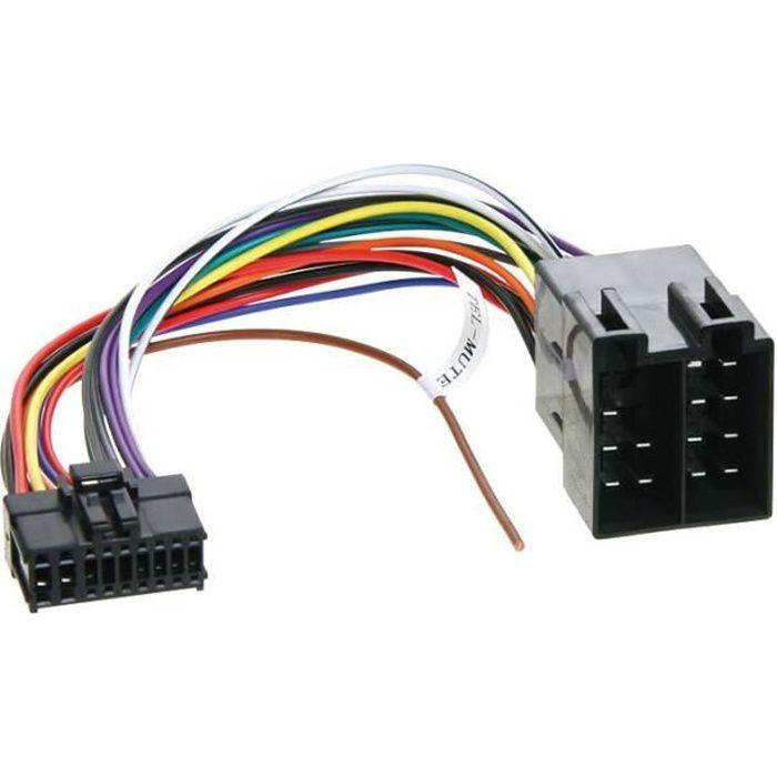 Adaptateur autoradio cable-> ISO PIONEER 18 PIN