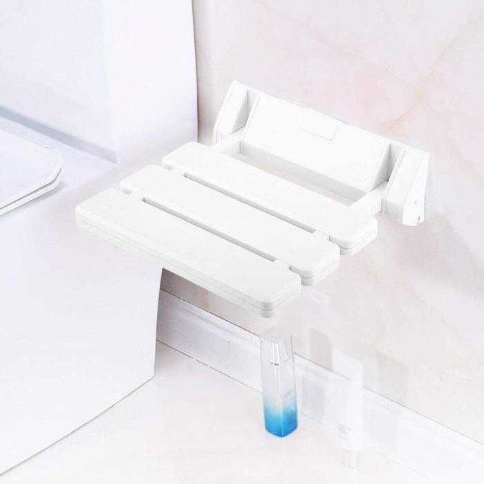 Siège de douche Siège de douche rabattable Aide à la douche Tabouret de douche mural 36 * 33cm Blanc/Siège de douche