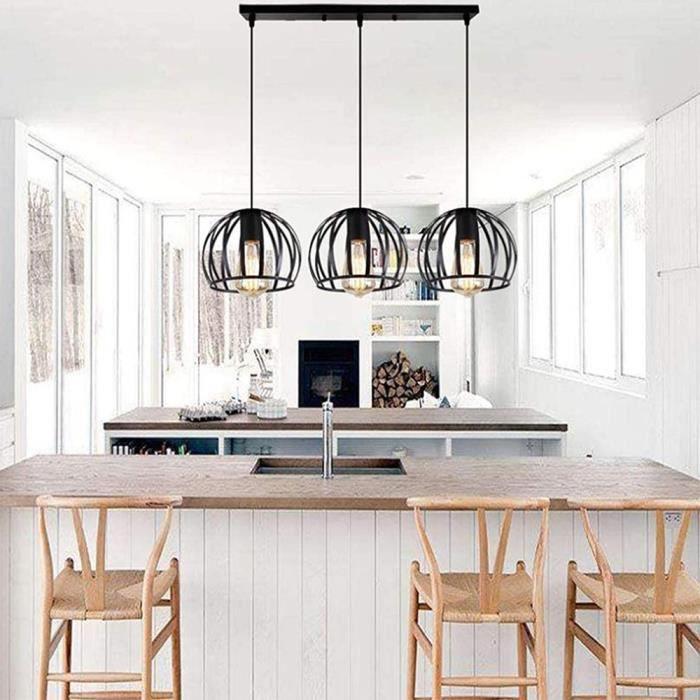 Lampe Lustre 3 pcs Luminaire Suspension En forme de pastèque Créativité minimaliste moderne, lumières décoratives d'hôtel