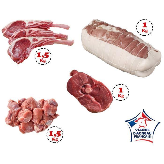 Colis viande d'Agneau 5 kg - Agneau Origine France