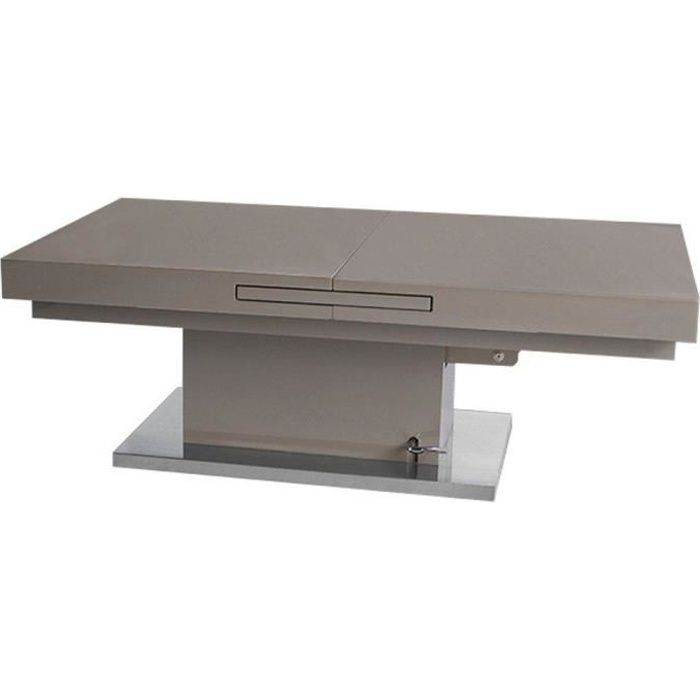 Table basse relevable extensible SETUP taupe taupe Inside75