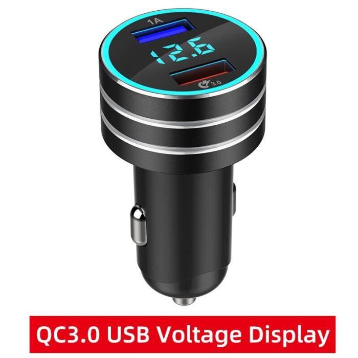 QC3.0 chargeur de voiture pour téléphone PD chargeur accessoires intérieurs pour iphone 11 pro Samsu - QC3.0 Voltage screen - HF5187