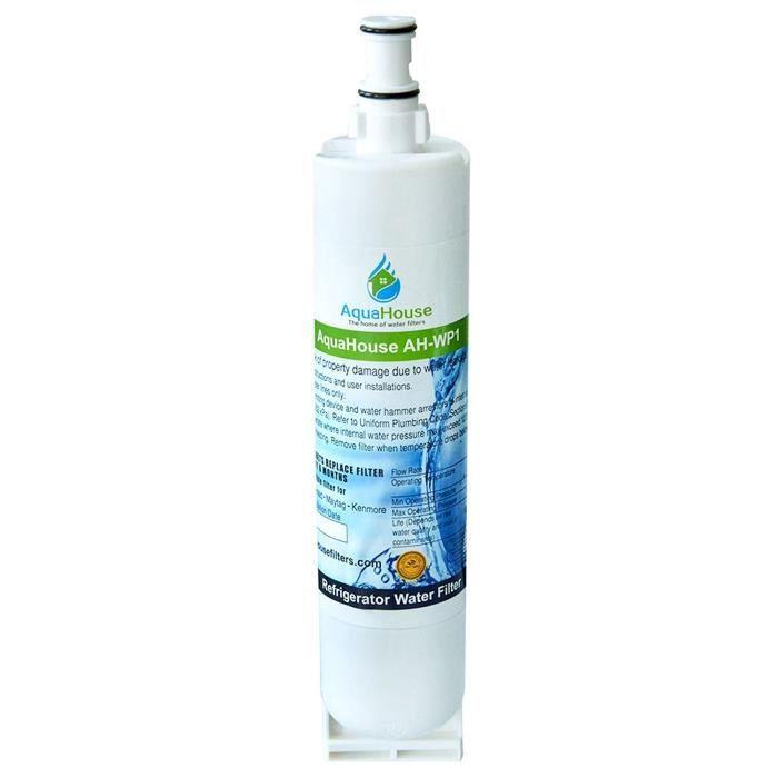 AquaHouse AH-WP1 filtre à eau compatible pour Whirlpool réfrigérateur SBS002, 4396508, 481281729632, 461950271171, S20BRS, SBS003