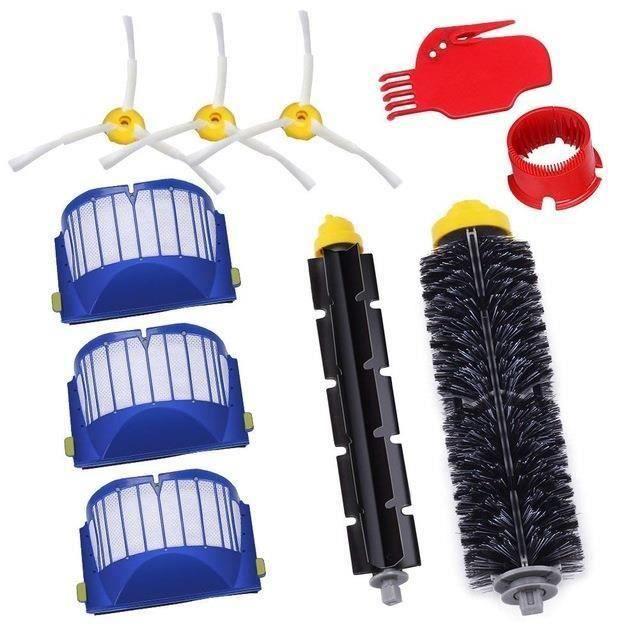 Remplaçant Kit secours d'accessoires pour iRobot Roomba série 585 600 605 615 616 620 630 631 632 639 650 651 Filtres et Bro My16032