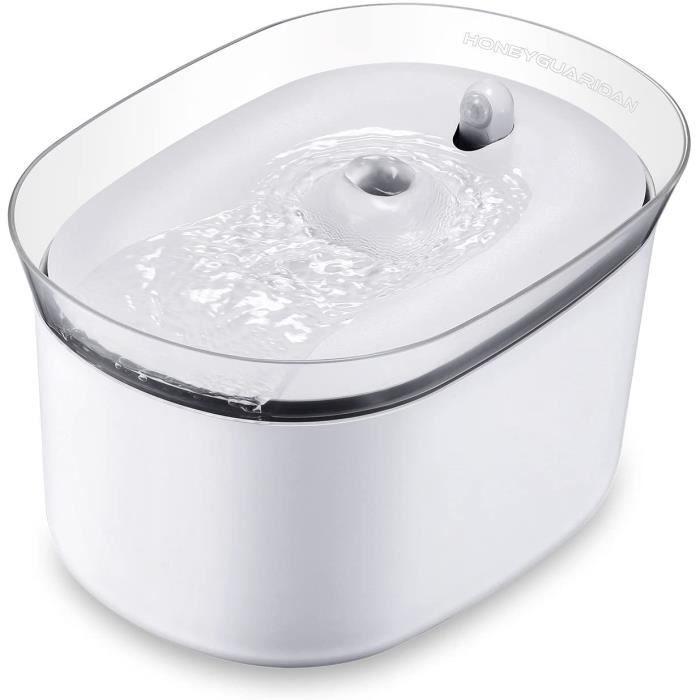 honeyguaridan Distributeur Fontaine d'eau Automatique et Intelligent pour Animaux Domestiques avec Induction Infrarouge, conçu pour