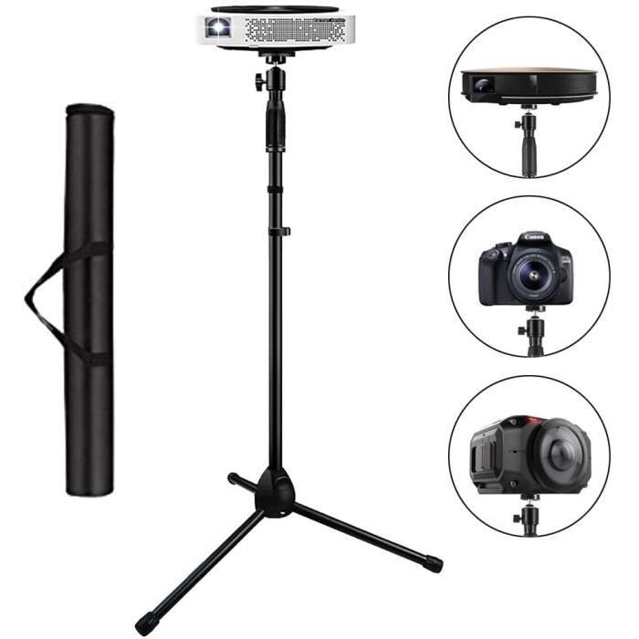 Support Projecteur Trépied Caméra Caméscopes Numériques Hauteur Réglable Rotatif pour Cinéma Bureau avec Vis de Filetage de 1/4-