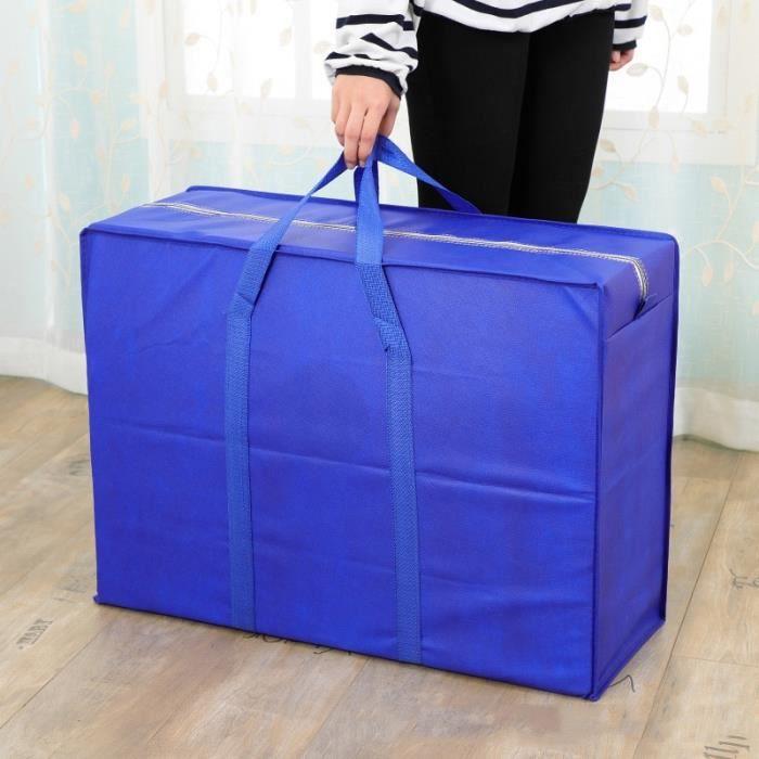 Housse de rangement,Sac de rangement, sac de rangement épais, sacs de bagages pour couettes, sac à main - Type blue-S 48x30x25CM