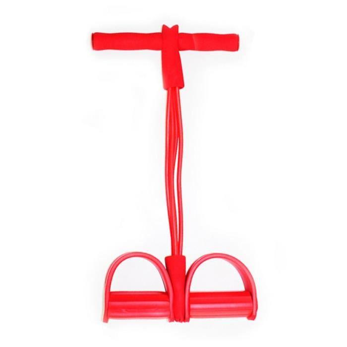 {Yokata} Corde de Tension, 4 Cordes de pédale pour Tube Bandes d'exercice de Musculation Expander Le Gymnase à la Maison, Rouge