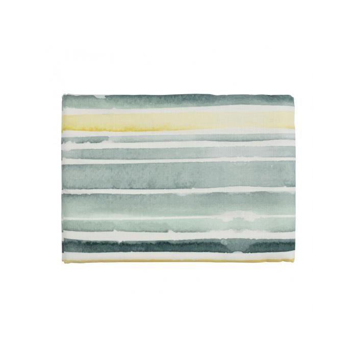 Nappe rayée Sanve vert et jaune 320 x 160 cm