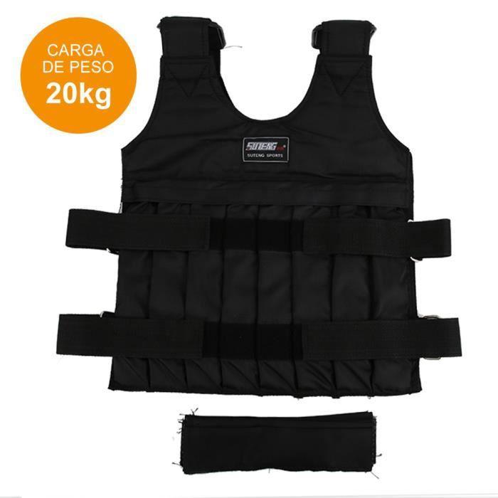 Gilet d'Exercice de Poids de Formation de Force de Tissu d'Oxford de 20KG pour le Running Fitness Crossfit de Boxe -ROE