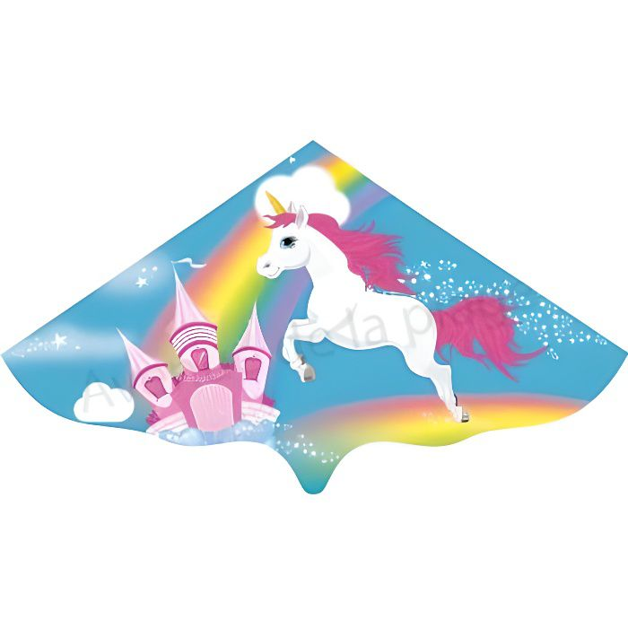 Cerf-volant Licorne Emma Multicolore