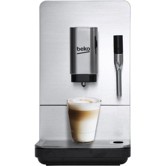 Machine expresso broyeur automatique - BEKO CEG5311X - Noir / Inox - Ultra compact - 1350 W / 15 bars