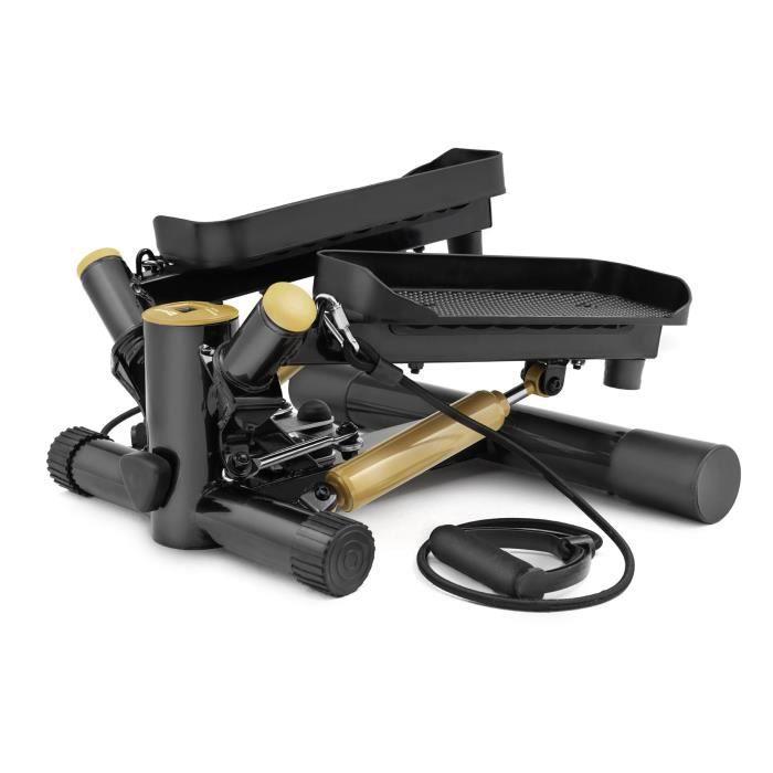 HS Hop-Sport Joy HS-035S Stepper rotatif à résistance ajustable avec sangles d'exercice Olive