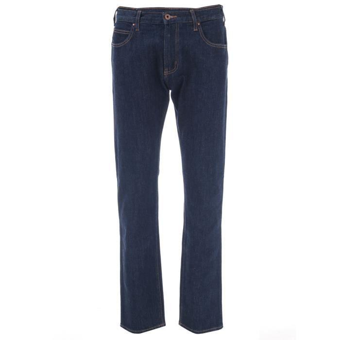 Jean Armani Jeans J45 Slim Fit Pour Homme En Indigo.