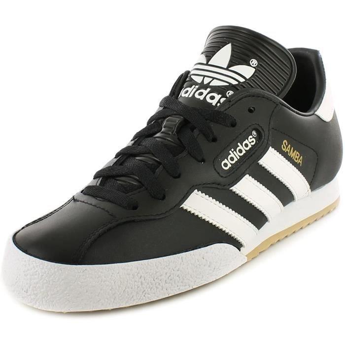 Adidas Originals Samba Super Hommes Cuir Matière Course Baskets Noir/Blanc - 12 UK