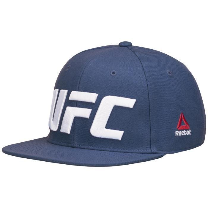 Casquette Reebok UFC Flat Peak - bleu indigo - M