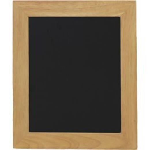 Ardoises murales noires pour cafés et restaurants encadrement bois coloris teck 40*50 cm