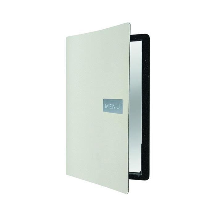 Protège-menu cuir blanc RAW 0,5 Cuir