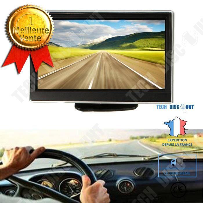 Moniteur New TFT LCD 5,0 pouces voiture radar caméra de recul conduite facilitée camping car vision arrière écran haute définition