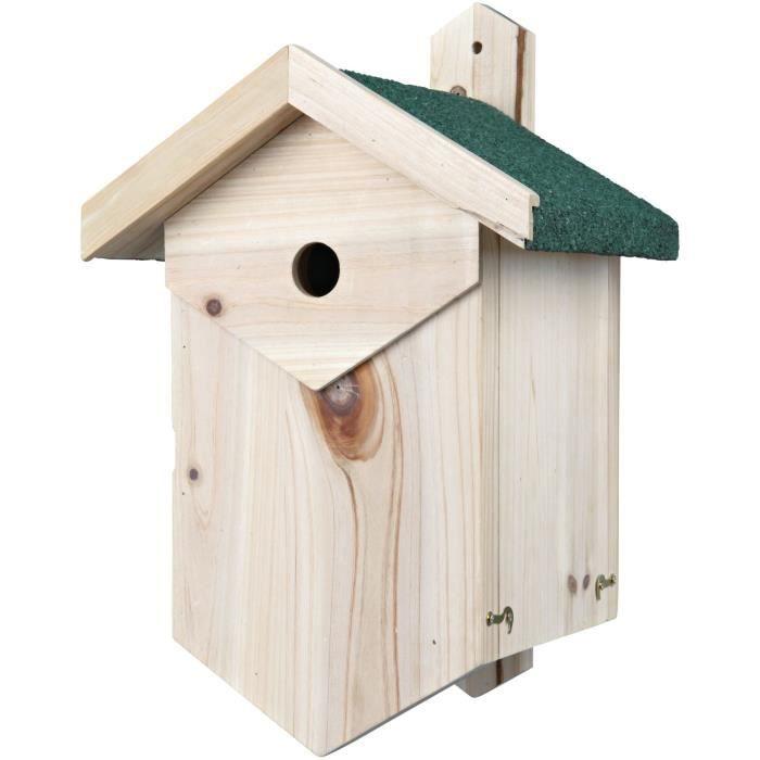 TRIXIE Nichoir nichant dans les cavités, 25 × 40 × 22 cm et ø 2,7 cm - Pour oiseau